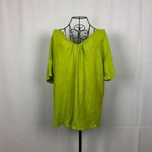 Lane Bryant cotton knit V-neck T shirt 22/24